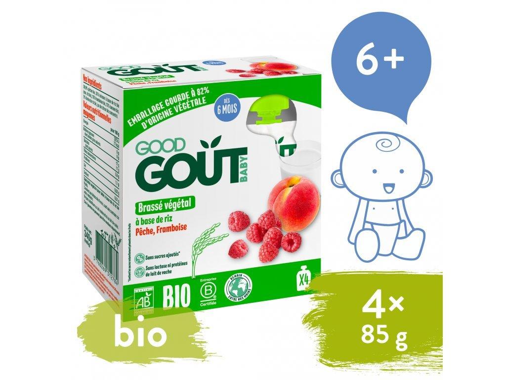 good gout bio ryzovy dezert s broskvi a malinou 4x85 g1