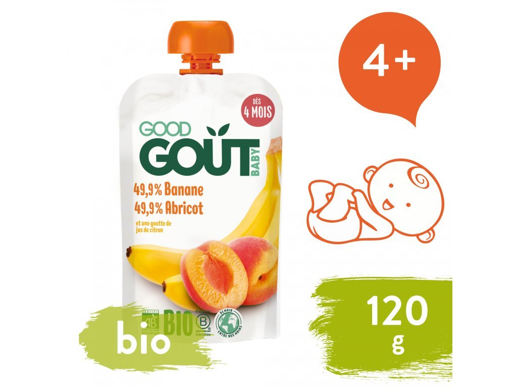 good gout bio merunka s bananem 120 g 1