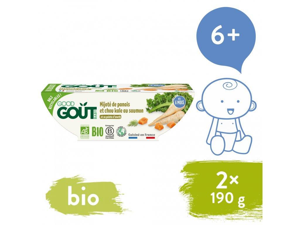 good gout bio losos s kapustou a pastinakem 2x190 g 1