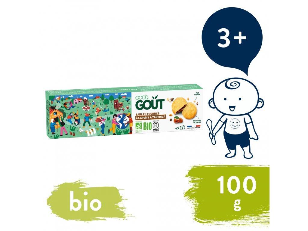 good gout bio maslove susenky plnene liskooriskovym kremem 100 g 1