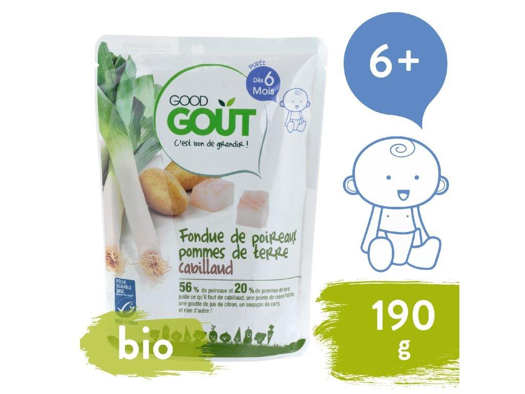 good gout bio porek s bramburkem a treskou 190 g 1