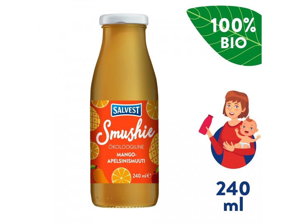 salvest smushie bio ovocne smoothie s mangem ananasem a pomerancovou duzinou 240 ml 1