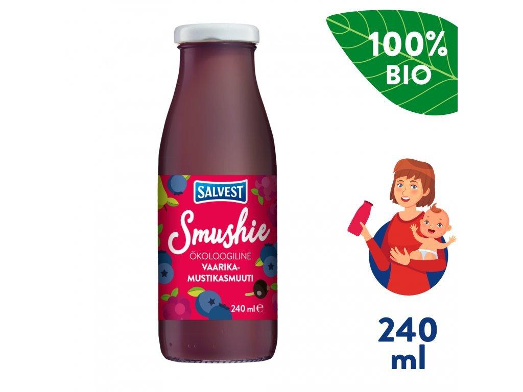 salvest smushie bio ovocne smoothie s boruvkami malinami a cernym rybizem 240 ml 1