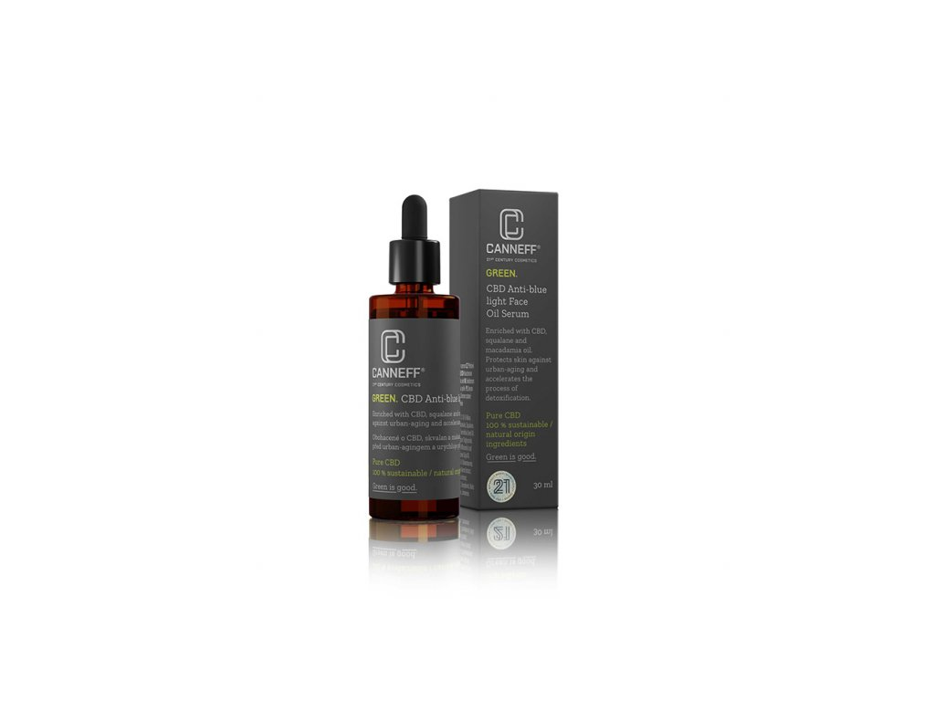 canneff green cbd anti blue light pletove olejove serum 30 ml