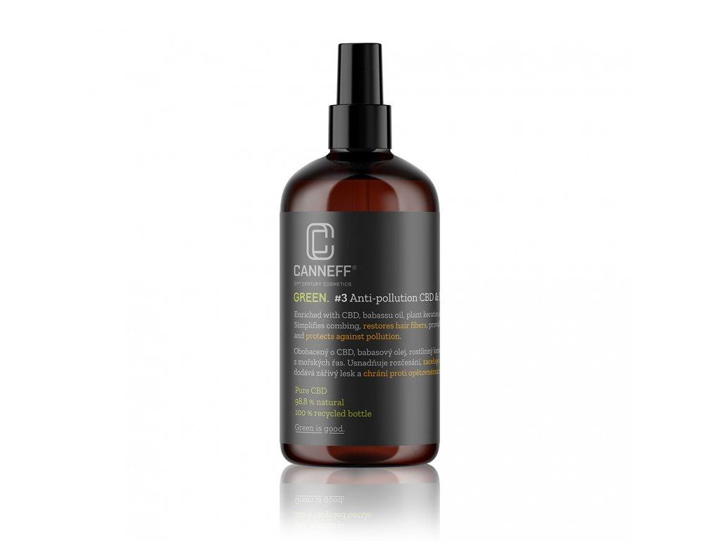 canneff green 3 anti pollution cbd plant keratin hair spray 200 ml