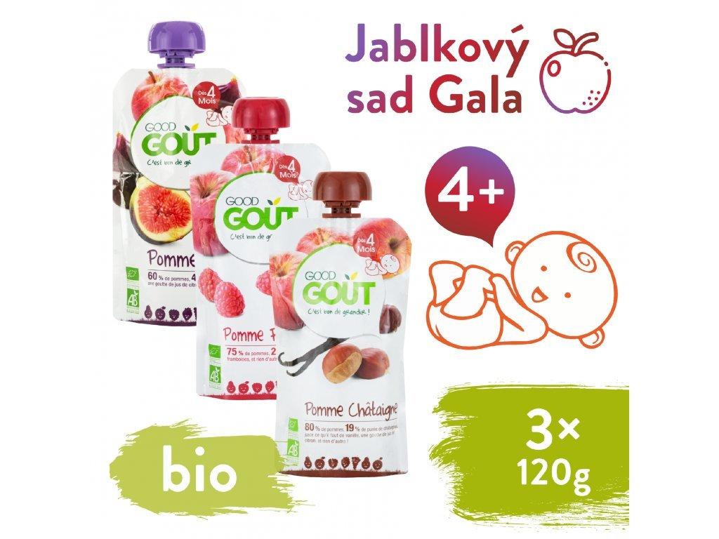 good gout bio variace kapsicek jablkovy sad gala 3x120 g 1
