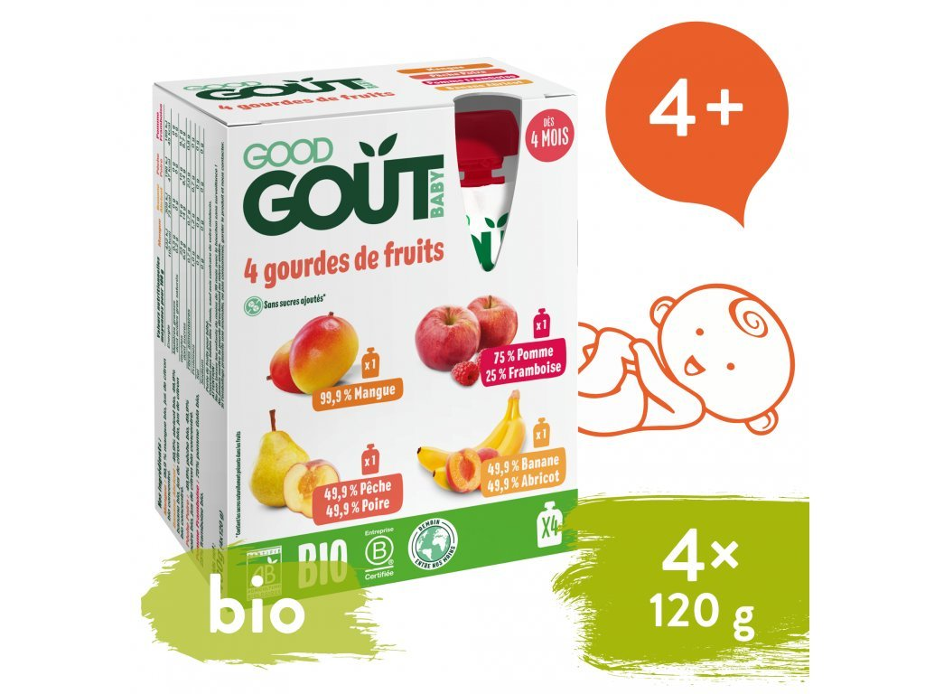 good gout bio variace kapsicek moje oblibene ovoce 4x120 g 1