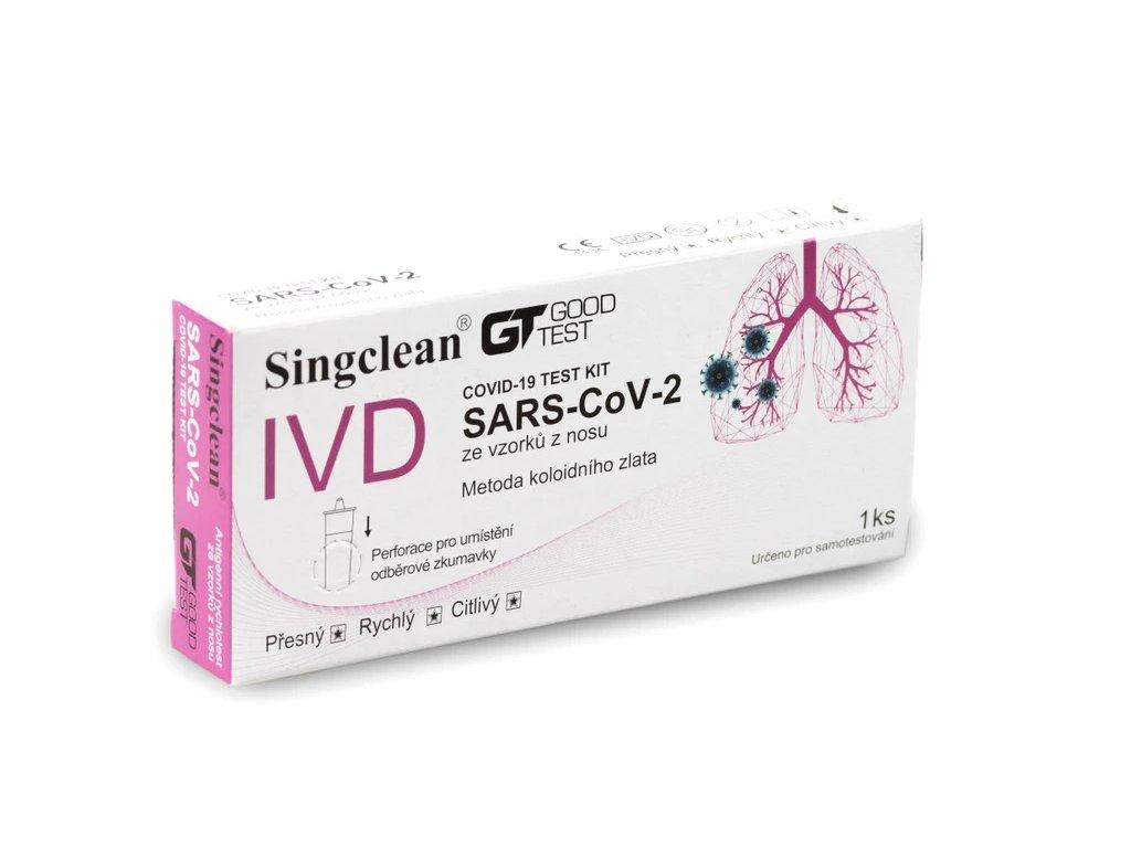 SINGCLEAN COVID 19 antigenní vyterovy 1 ks