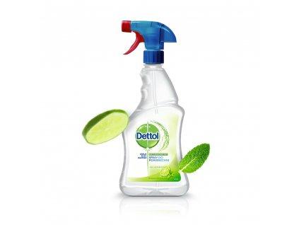 dettol sprej na povrchy cistici antibakterialni dezinfekce limeta mata 500 ml