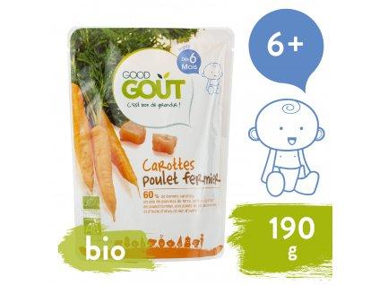 Good Gout BIO Mrkev s farmářským kuřátkem 190 g