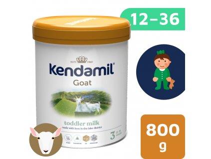 Kendamil Kozí batolecí mléko 3 DHA+ 800g