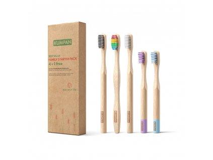 KUMPAN Rodinne baleni bambusovych kartacku 4+1 zdarma 1