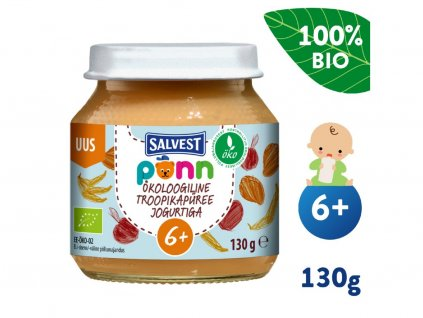 salvest ponn bio ovocne pyre s jogurtem 130 g 1