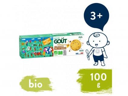 good gout bio bee scuits susenky s medem a kousky cokolady 100 g 1