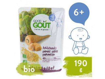 good gout bio artycoky pastinak a testoviny s parmazanem 190 g 1