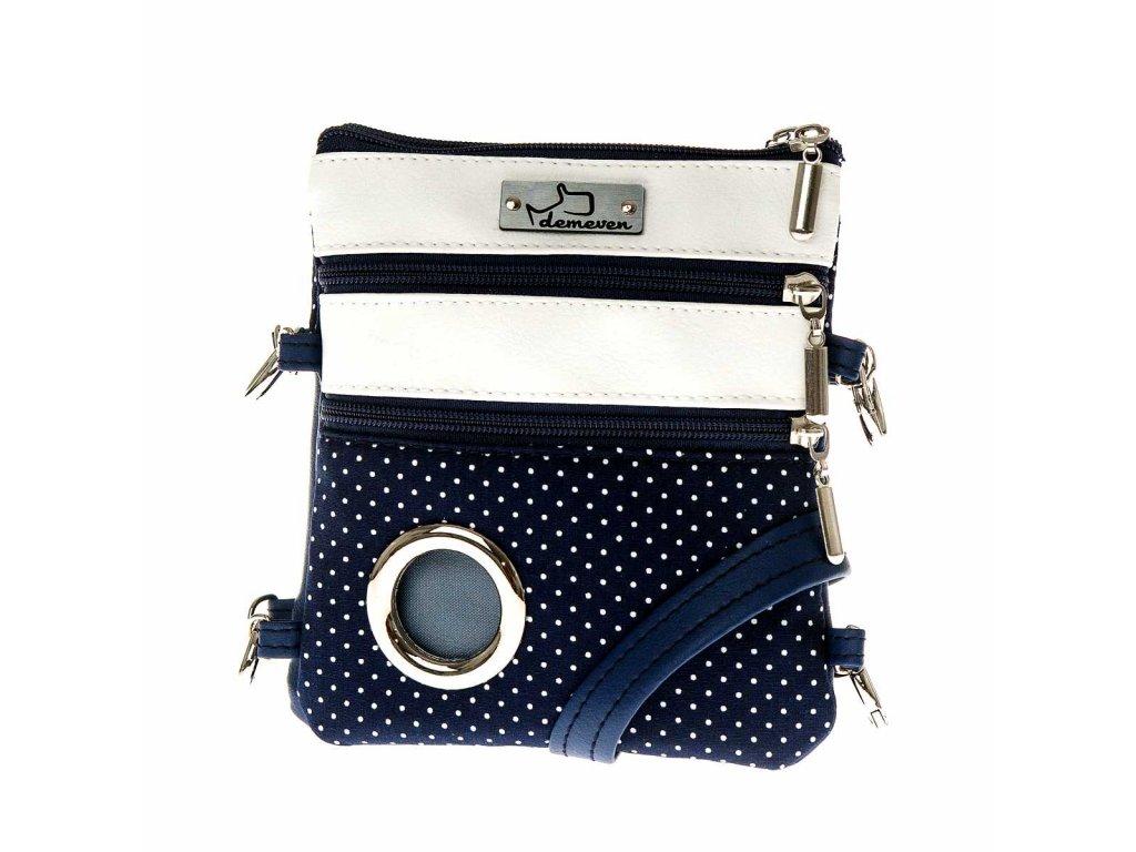 Navy kabelka na venceni psa vencici pamlskovnik vycvikova sukne vesta kapsicka pamlsky pytlicky modra
