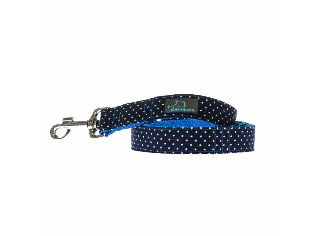 Navy voditko venceni psa psi kvalitni popruhove demeven modre