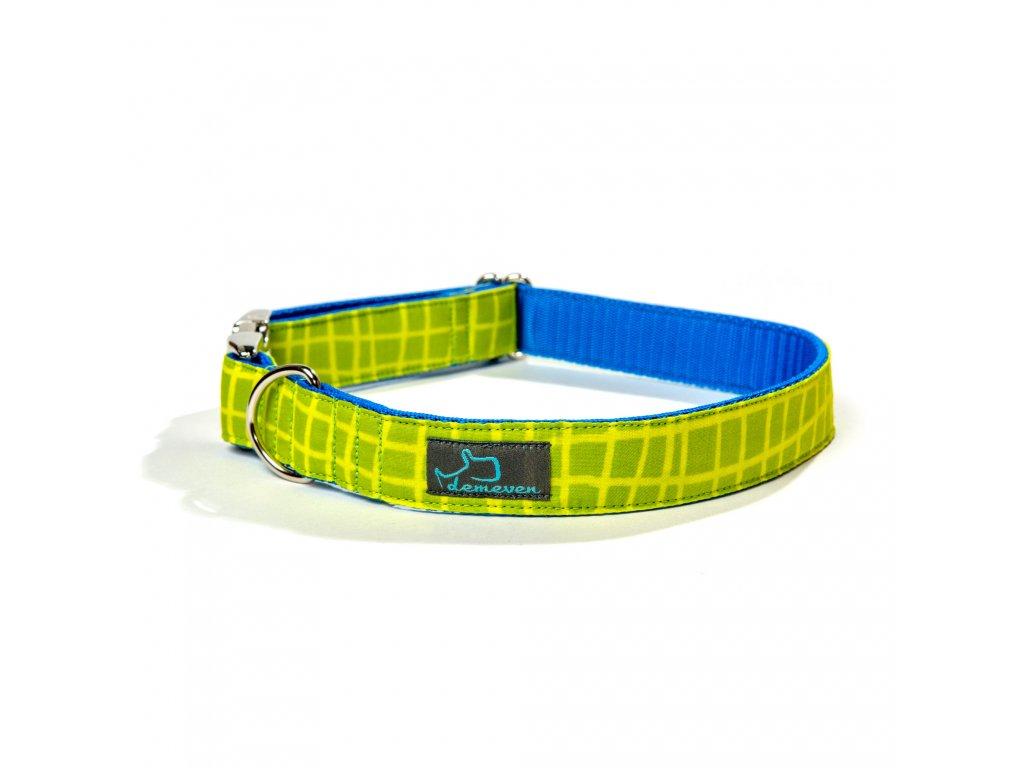 salvador obojek pro psa psy krasny stylovy odlehcena kovova spona zeleny modry demeven