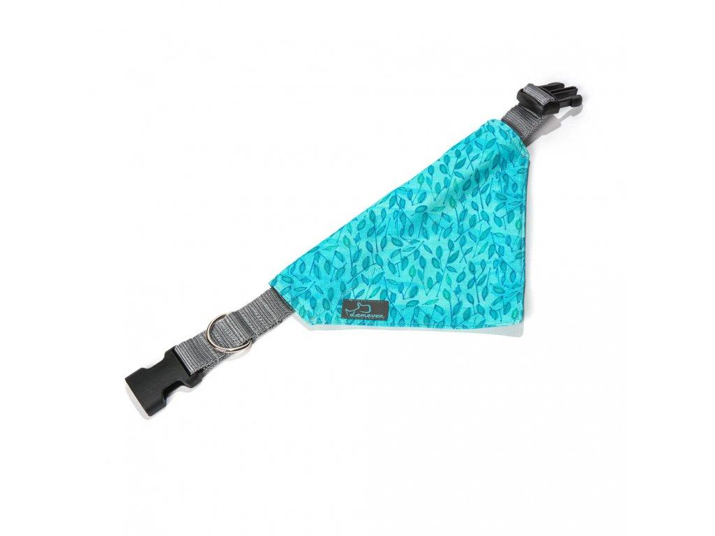 Togian satek na obojek pro psa krasny stylovy modry tyrkysovy kovovou sponou demeven jdemeven