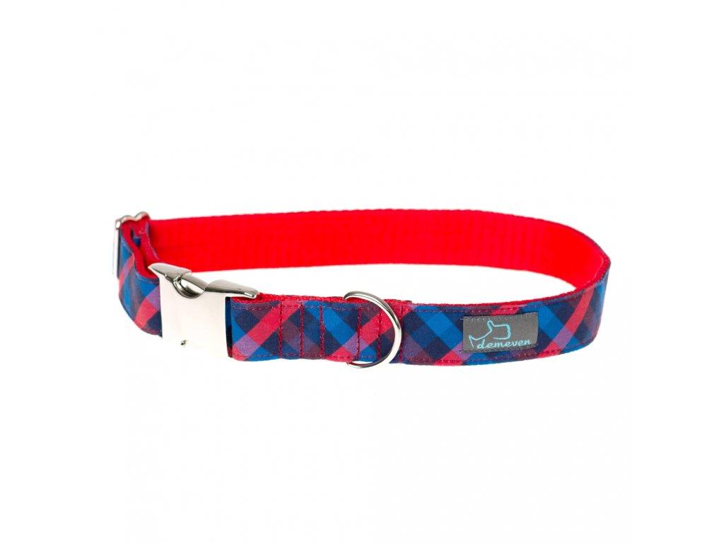 demeven obojek galsgow pro psa cervenomodry cerveny modry krasny