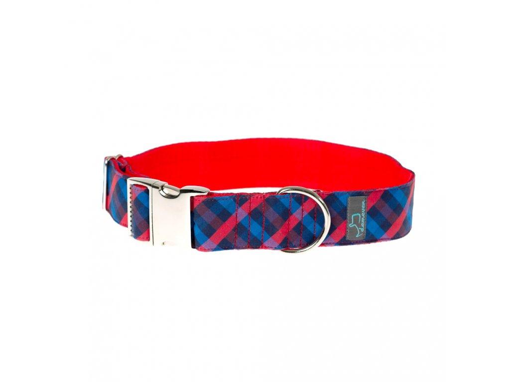 demeven obojek XL galsgow pro psa na venceni cervenomdry cerveny modry krasny