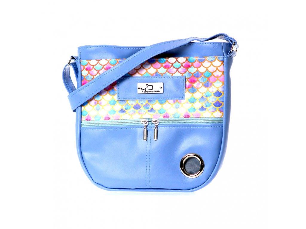 demeven velka kabelka Tuamotu barevna ruzova modra krasna na venceni psy psi