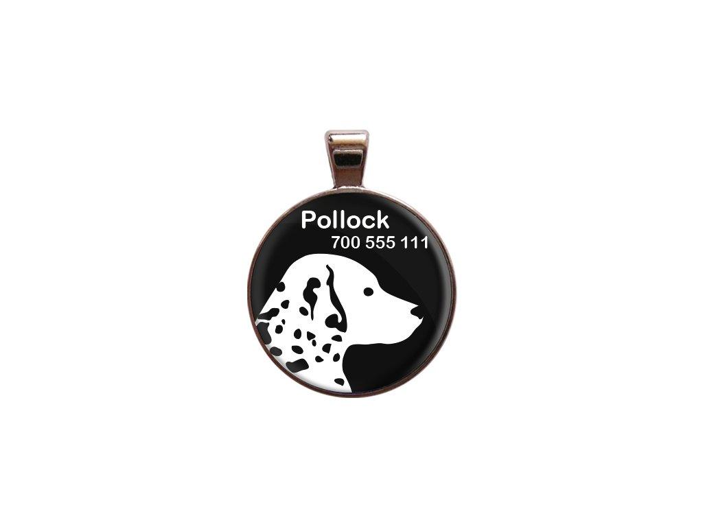 Pollock znamka pro psa psi telefonni cislo jmeno ryti kovova s plemenem demeven obojek se jmenem silueta