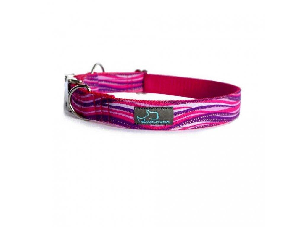 blush Obojky pro psy obojek krasny stylovy designovy demeven s kovovou sponou dog collar beautiful stylish pink violet ruzovy fialovy psi obojek