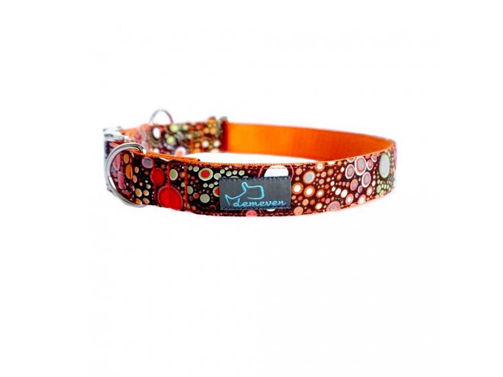 Oakleen Obojky pro psy obojek krasny stylovy designovy demeven s kovovou sponou dog collar beautiful stylish pink violet ruzov