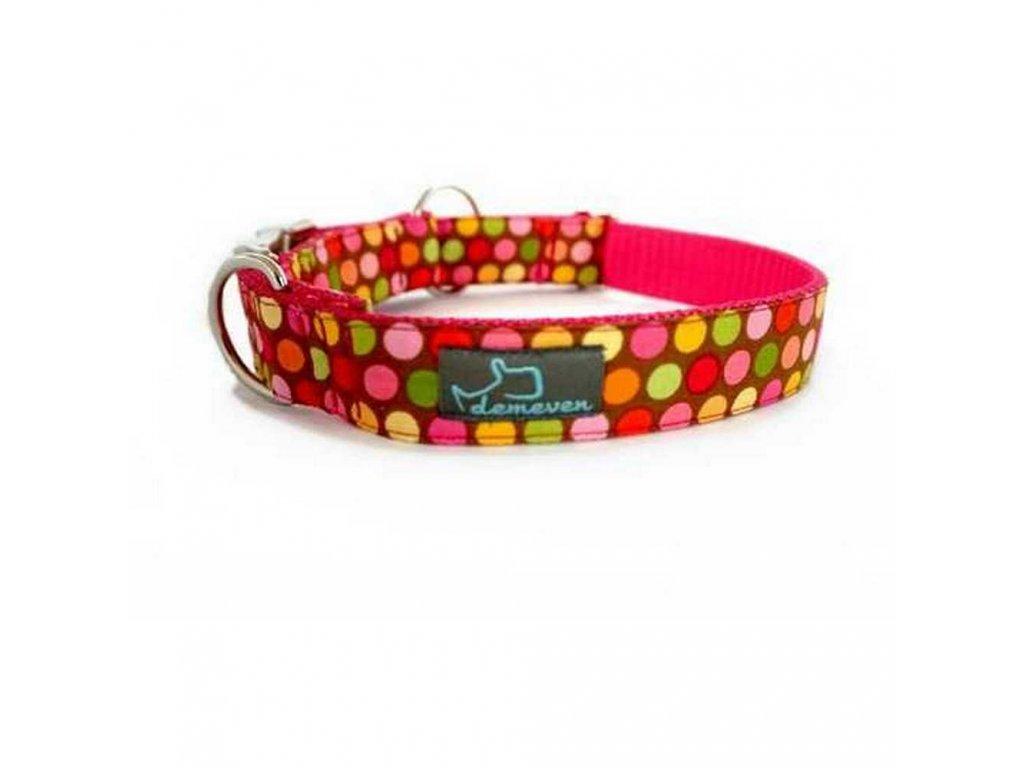 Fruti Obojky pro psy obojek krasny stylovy designovy demeven s kovovou sponou dog collar beautiful stylish pink violet ruzovy fialovy psi obojek