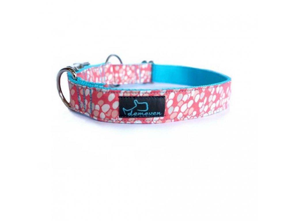Rainee Obojky pro psy obojek krasny stylovy designovy demeven s kovovou sponou dog collar beautiful stylish pink violet ruzovy fialovy psi obojek