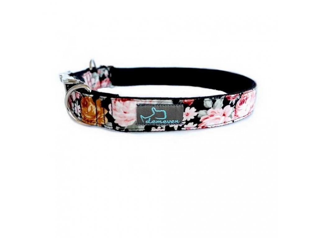 Dark Rose Obojky pro psy obojek krasny stylovy designovy demeven s kovovou sponou dog collar beautiful stylish pink violet ruzovy fialovy psi obojek