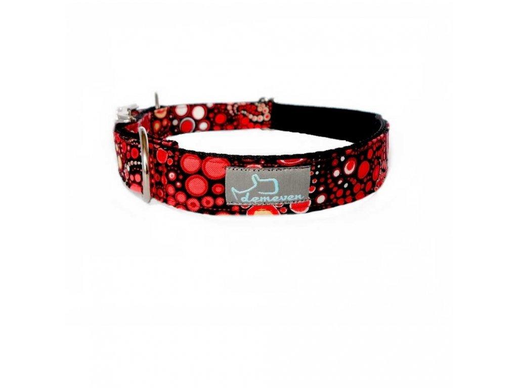 Galaxy Obojky pro psy obojek krasny stylovy designovy demeven s kovovou sponou dog collar beautiful stylish red cerveny psi obojek