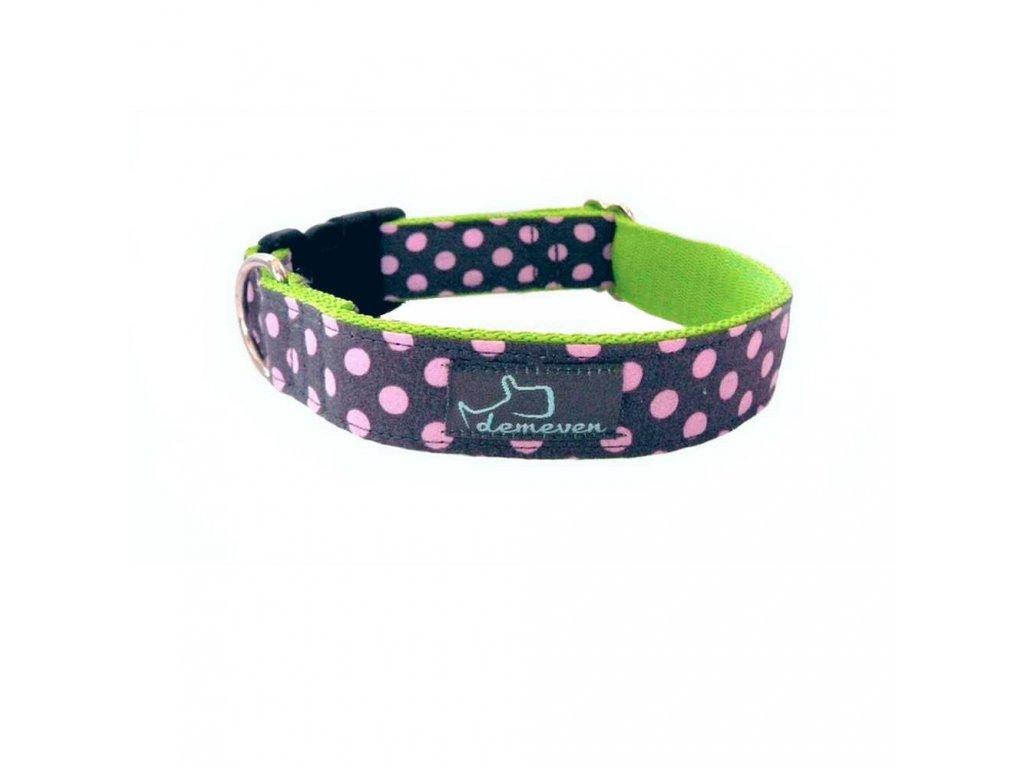 Paris Obojky pro psy obojek krasny stylovy designovy demeven s kovovou sponou dog collar beautiful stylish pink violet ruzovy fialovy psi obojek