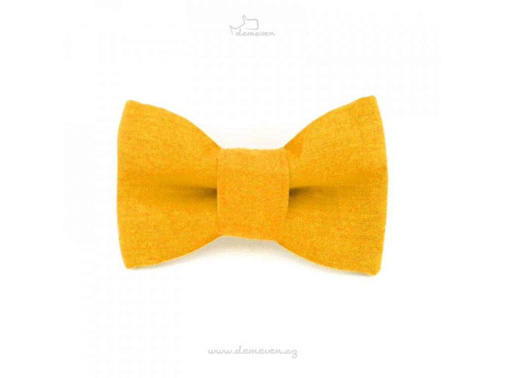 Motylek zluty dog bow tiw pro psa masle demeven na obojek