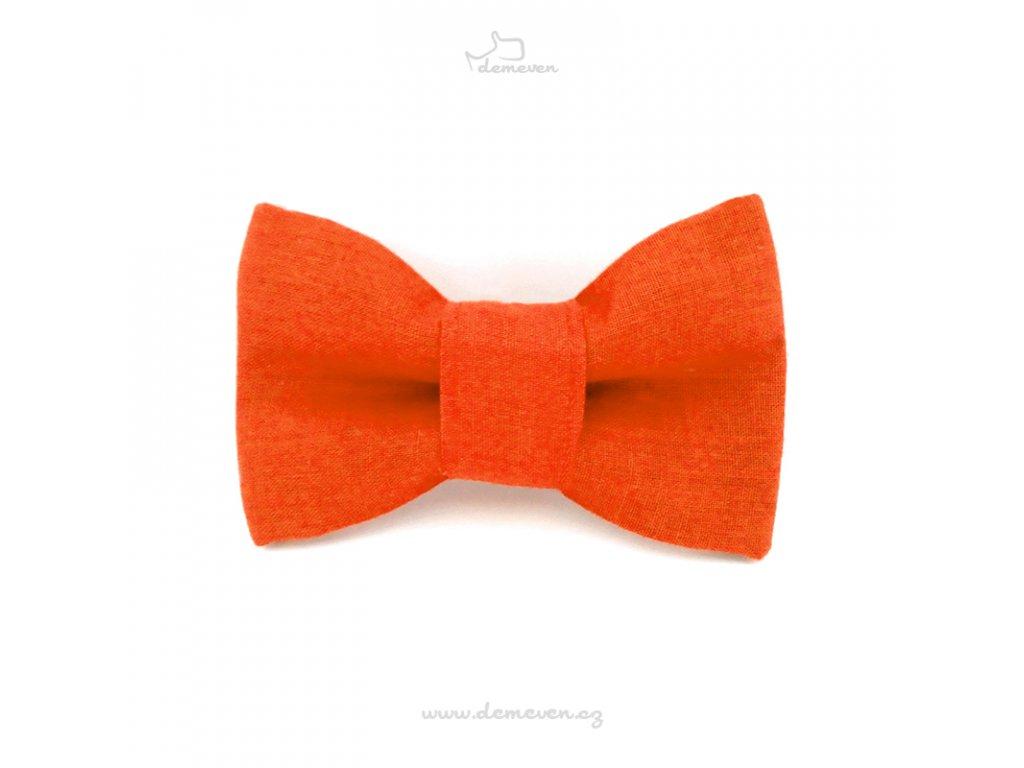 vyr 95Motylek oranzovy dog bow tiw pro psa masle demeven