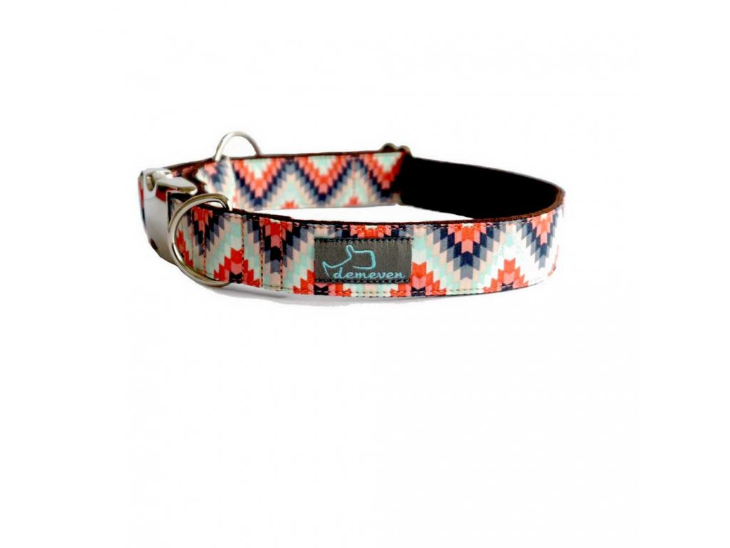 Indie shop Obojky pro psy obojek krasny stylovy designovy demeven s kovovou sponou dog collar beautiful stylish hnedy ruzovy psi obojek