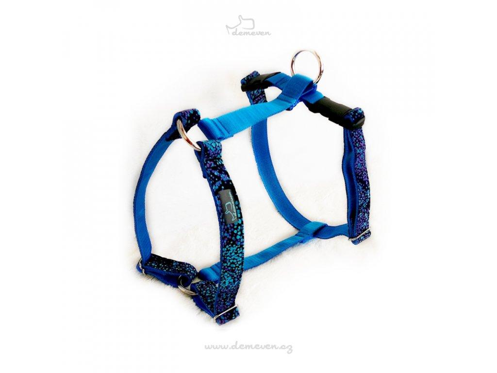 Ksiry pro psy psi ksirky postroj harness dog demeven krasny stylovy designovy beautiful stylish design demeven blue black modre modry cerne cerny