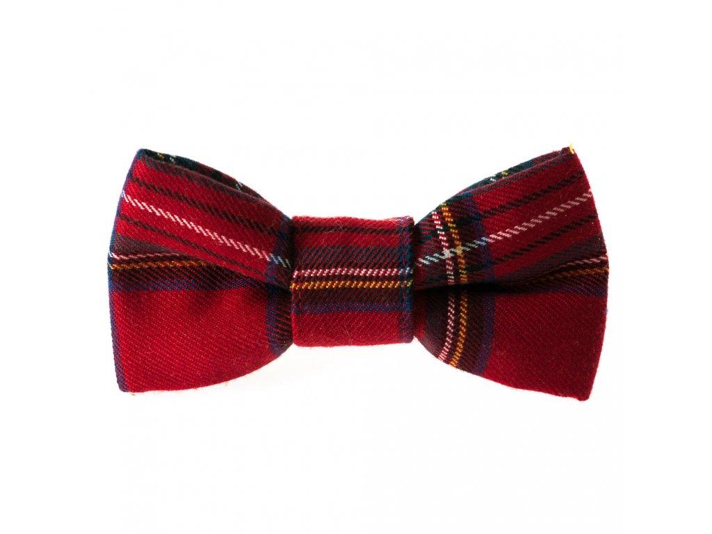 Marion motylek na obojek pro psa svatecni stylovy vanocni karovany skotska kostka