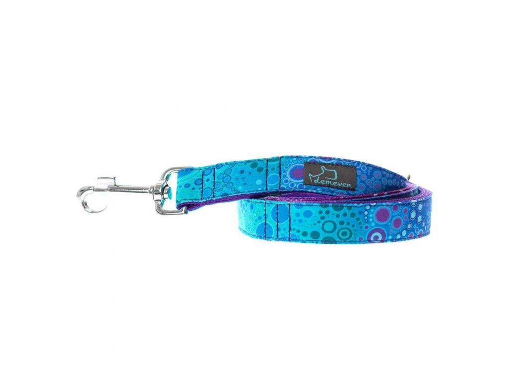 Bajkal voditko pro psa popruhove krasne barevne dlouhe prepinaci kvalitni pevne ceske na psy doplnky demeven s karabinou modre fialove
