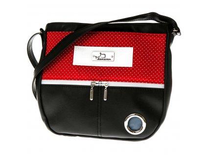 Eve velka kabelka na venceni demeven psa vencici pamlskovnik vycvikova sukne vesta kapsicka pamlsky pytlicky vybava pro psa cervena