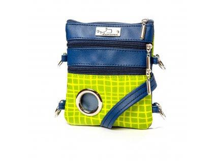 salvador vychytana kabelka na venceni demeven zelena modra pro psy psa panicka