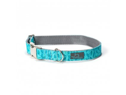 Togian obojek pro psa krasny stylovy tyrkysovy modry s kovovou sponou demeven jdemeven