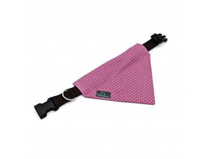 šátek s obojkem Demeven dotie pink