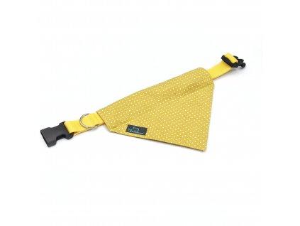 šátek s obojkem Demeven dotie mustard