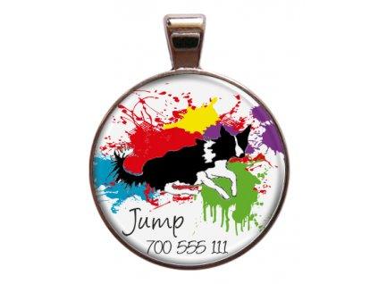 Jump znamka pro psa psi telefonni cislo jmeno ryti kovova s plemenem demeven obojek se jmenem silueta