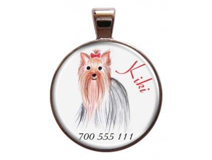 Kiki znamka pro psa psi telefonni cislo jmeno ryti kovova s plemenem demeven obojek se jmenem silueta