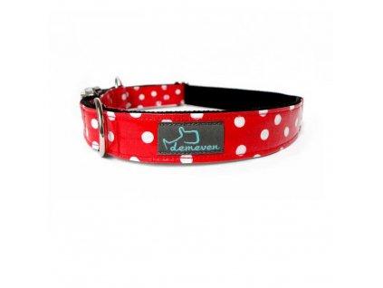Ladybug Obojky pro psy obojek krasny stylovy designovy demeven s kovovou sponou dog collar beautiful stylish cerveny modry red blue psi obojek