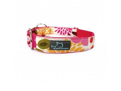 Foxtail Obojky pro psy obojek krasny stylovy designovy demeven s kovovou sponou dog collar beautiful stylish pink violet ruzovy fialovy psi obojek