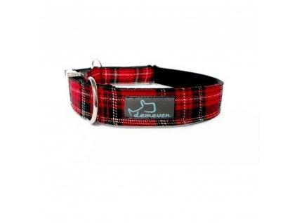 Marion Obojky pro psy obojek krasny stylovy designovy demeven s kovovou sponou dog collar beautiful stylish cerveny modry red blue psi obojek